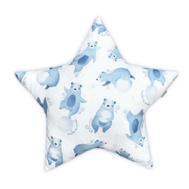 Dwustronna poduszka w kształcie Gwiazdki w Nocne Misie.