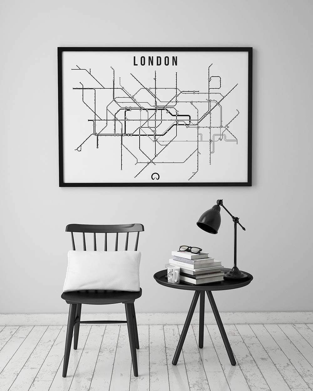 Londyn Metro Plakat Jagodowykot