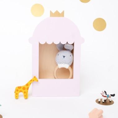Ręcznie wykonana półka do pokoju dziewczynki-komnata księżniczki