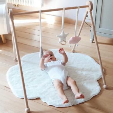 Zabawka prezent dla niemowlaka-stojak/mata edukacyjna-gwiazdka, księżyc i różowa chmurka