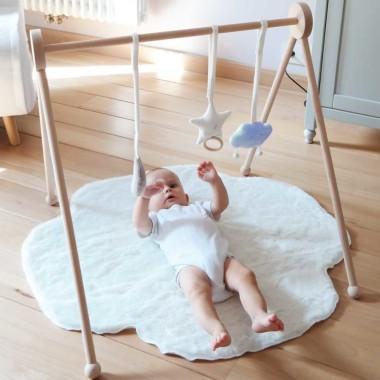 Zabawka prezent dla niemowlaka-stojak/mata edukacyjna-gwiazdka, księżyc i niebieska chmurka