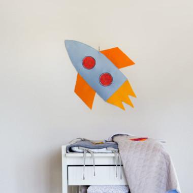 Kosmos – dekoracja ścienna Rakieta