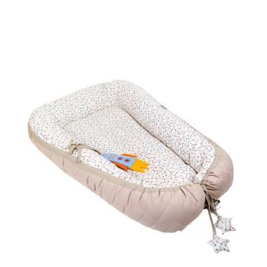 Dwustronny kokon, otulacz, gniazdko dla niemowląt wykonany z wysokiej jakości tkaniny bawełnianej