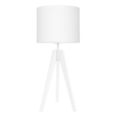 Lampa na stolik Czysta biel