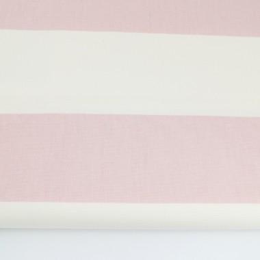 youngDECO zasłona Pasy poziome biało-różowe