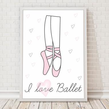 PLAKAT, OBRAZEK I LOVE BALLET