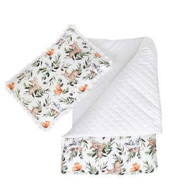 Pikowelove (Leśne Zwierzęta) – kołderka z poduszką – różne rozmiary