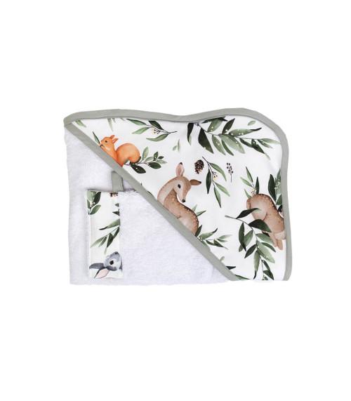 Leśne Zwierzęta – okrycie kąpielowe z myjką