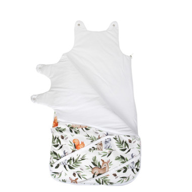 Leśne Zwierzęta – śpiworek niemowlęcy 80 cm