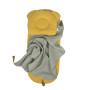 Komplet do Gondoli i Kosza Mojżeszowego (prześcieradło + poduszka + kocyk) Musztarda