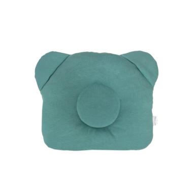 Zielony butelkowy – poduszka z wgłębieniem na główkę