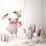 Bezpieczna naklejka na ścianę-króliczek na ścianę do pokoju dziecka
