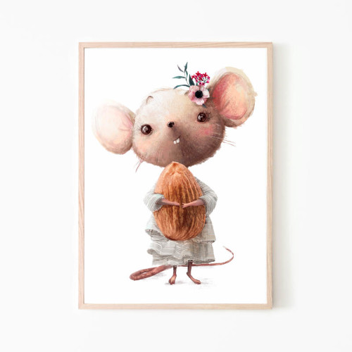 Plakat/ obrazek do pokoju dziecka-myszka