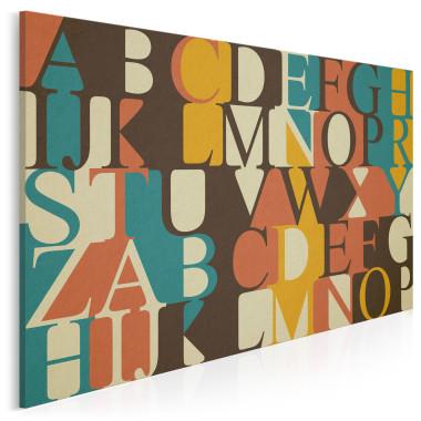 Kolorowy obraz na wysokiej jakości płótnie przedstawiający kolorowy alfabet