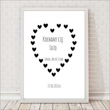 Prezent na dzień taty, prezent dla taty, plakat dla taty, dzień ojca, pępkowe