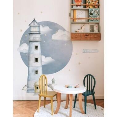 Latarnia Morska Porticello- naklejka na ścianę do pokoju dziecka w stylu marynarskim