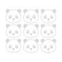 Pandy - Naklejki Na Ścianę, Naklejki Ścienne