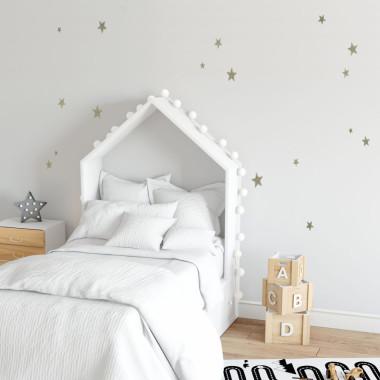 Naklejki na ścianę gwiazdki srebrne