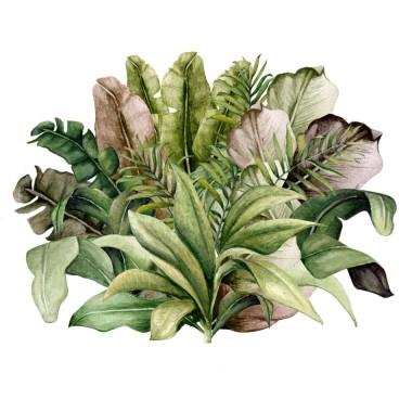 Załóżkownik/naklejka do pokoju dziecka z motywem roślinnym-dżungla/ liście.