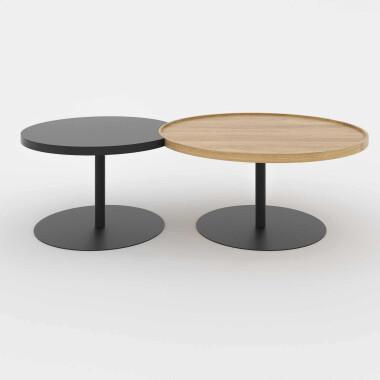 zestaw okrągłych stolików kawowych
