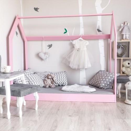 Skandynawskie łóżko w kształcie domku dla 2 latka, 3 latka, 4 latka...