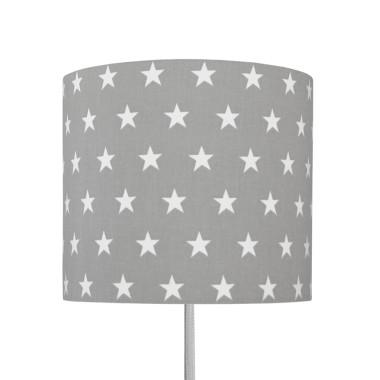 Szary kienkiet w białe gwiazdki-oświetlenie/lampka do pokoju dziecka