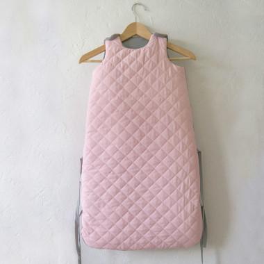 Różowo-szary śpiworek do spania dla niemowlaka/ dla dziecka 80 cm