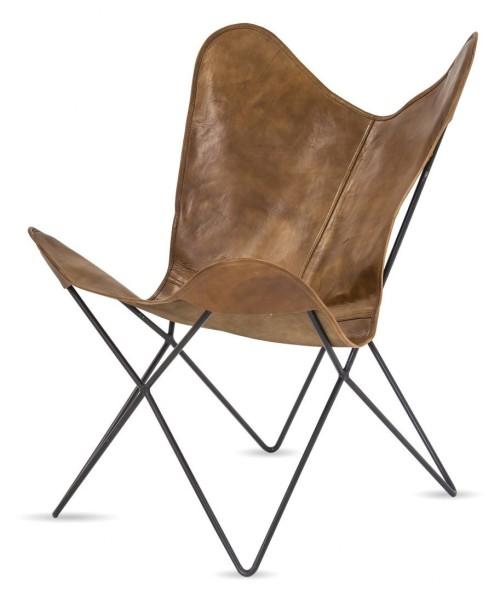Oryginalny fotel wypoczynkowy. Połączenie designu i funkcjonalności. Jego surowy charakter powoduje,ze pasuje do aranżacji w stylu LOFT , WINTAGE lub ETNO Skóra naturalna wzmocniona tkaniną.