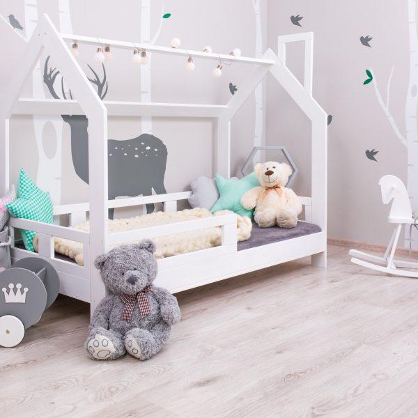 Łóżko Domek dla Dzieci Gaya + Barierki Kolor