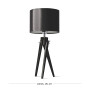 LW16-05-19 Lampa nocna sztalugowa trójnóg - czarna