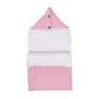 Malmo Pink – śpiworek z kapturem do łóżeczka/ gondoli wózka 60 cm różowy