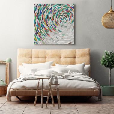Kolorowy obraz abstrakcja, wir-obraz na płótnie do sypialni, jadalni, salonu