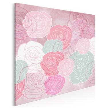 Obraz na płótnie z kwiatami różami