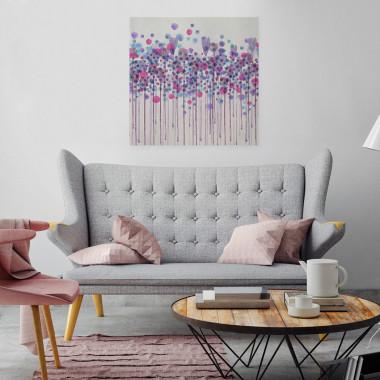 Obraz na płótnie w fioletach- do salonu, sypialni, kawiarni, hotelu