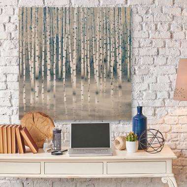 Obraz z brzozami w lesie-obraz na płótnie-do salonu, sypialni, jadalni, restauracji, recepcji, hotelu.