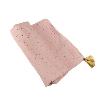 Blink Pink – otulacz muślinowy z chwostami 110×120 cm