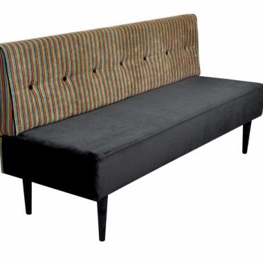 Oryginalna sofa tapicerowana inspirowana wzornictwem duńskim lat 50-tych.
