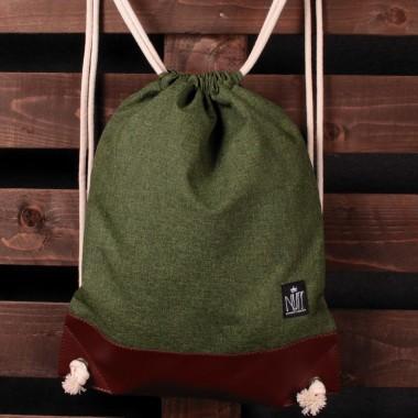 Plecak worek Nuff | Zielony melanż