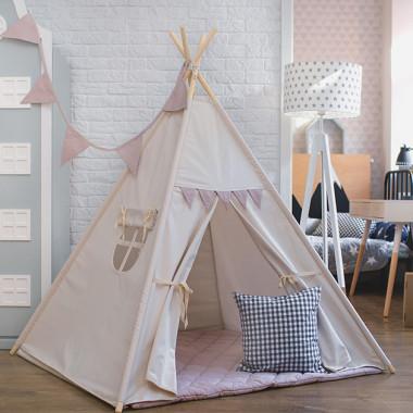 Bezowo różowy namiot do pokoju dziecka-dekoracja do pokoju dziecka, Idealny prezent dla dziecka.