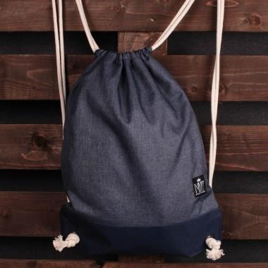 Plecak worek Nuff | Niebieski melanż