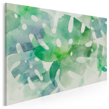 Obraz na płótnie zielone liście monstera-do salonu, sypialni, jadalni, restauracji, kawiarni lub gabinetu