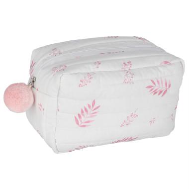 osmetyczka organic cotton Dusty pink leaves