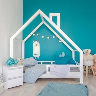 Lóżko dla dzieci domek biały,dla 2 latka, dla 3 latka, dla 4 latka różowy, czerwony z szufladą i barierkami.
