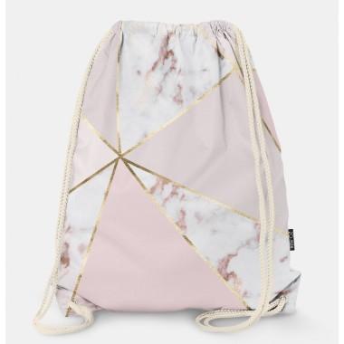 Oryginalny i bardzo praktyczny worek-plecak z modnym printem. Prezent dla nastolatki..Różowy