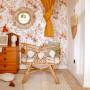 Jesienna Łąka White Tapeta do pokoju dziewczynki z kwiatowym wzorem
