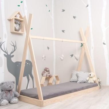 Łóżko Domek Łóżko drewniane Tipi Loft KolorŁóżko Domek Łóżko drewniane Tipi Apache Kolor Łóżko Domek Łóżko drewniane Tipi Apache Naturalne
