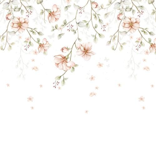 Rajski ogród Pastel gałązki Tapeta