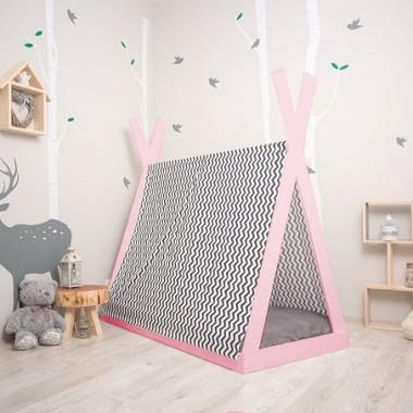 Łóżko domek w kształcie TIPI w stylu skandynawskim to spełnienia marzeń każdego dziecka