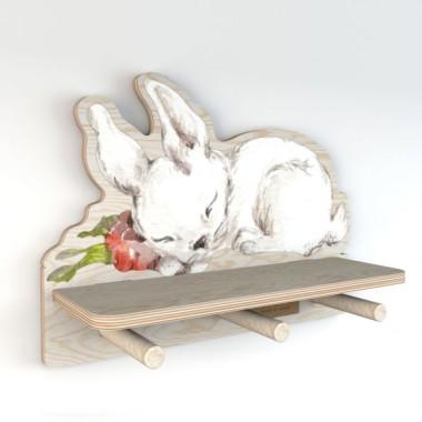 Minipółka ze sklejki Sleepy Rabbit