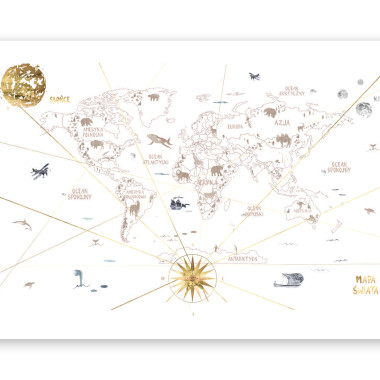Mural dziecięcy World Map 1